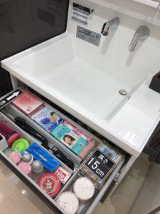 タカラスタンダード洗面台「ファミーユ」のシンクと収納