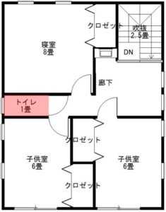 2階のトイレの場所