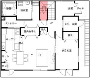 1階のトイレの場所
